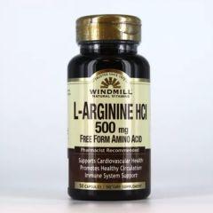 L-ARGININE 500 MG 50 CAPS