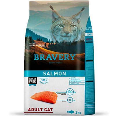 Bravery Salmon Adult Cat