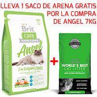 Brit Care Cat Angel 7KG + Arena WBCL 3.18KG GRATIS!