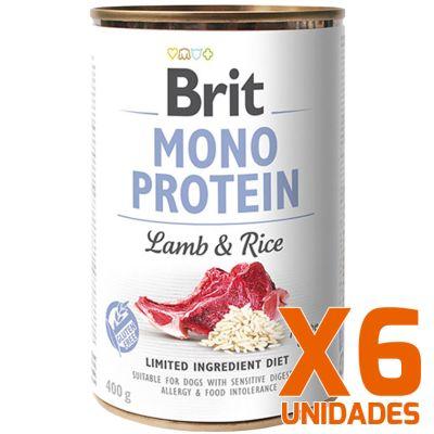 Brit Care Mono Protein Cordero y Arroz Pack 6 Unidades