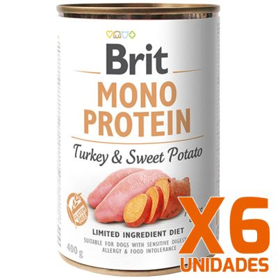 Brit Care Mono Protein Pavo y Papa Dulce Pack 6 Unidades
