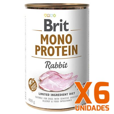 Brit Care Mono Protein Rabbit Pack 6 Unidades