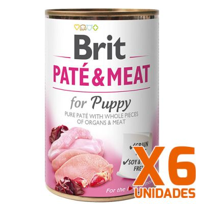 Brit Care Paté & Meat Puppy Pack 6 Unidades