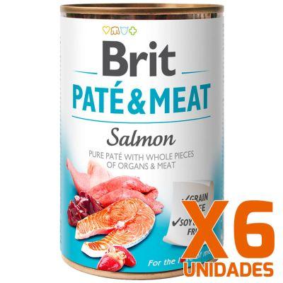 Brit Care Paté & Meat Salmón - Pack 6 Unidades