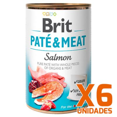 Brit Care Paté & Meat Salmón - Pack 6 Unidades
