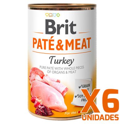 Brit Care Paté & Meat Turkey - Pack 6 Unidades