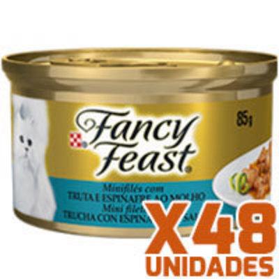 Fancy Feast - Trucha Espinaca x 48 unidades