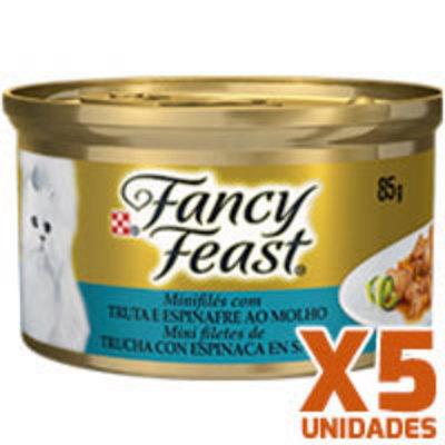 Fancy Feast - Trucha Espinaca x 5 unidades