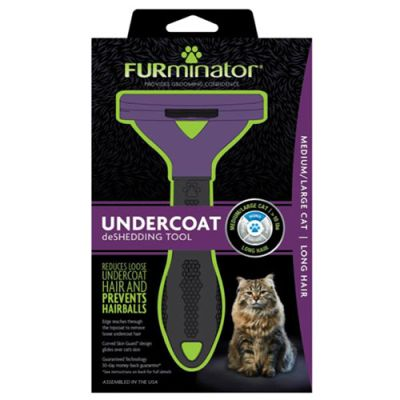 FURminator LONG HAIR deShedding Tools FOR CAT, Medium / Large