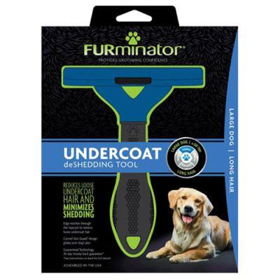 FURminator LONG HAIR deShedding Tools FOR DOG Large