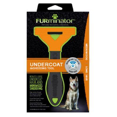 FURminator LONG HAIR deShedding Tools FOR DOG Medium