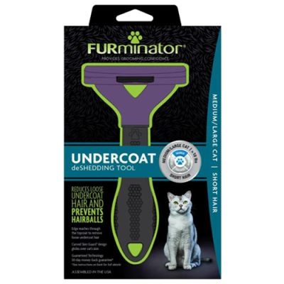 FURminator SHORT HAIR deShedding Tools FOR CAT, Medium / Large