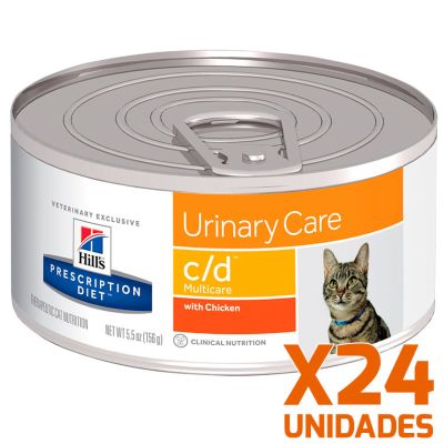 Hills c/d Felino Urinary Care Lata Pack 24 Unidades