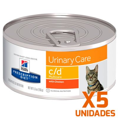 Hills c/d Felino Urinary Care Lata Pack 5 Unidades