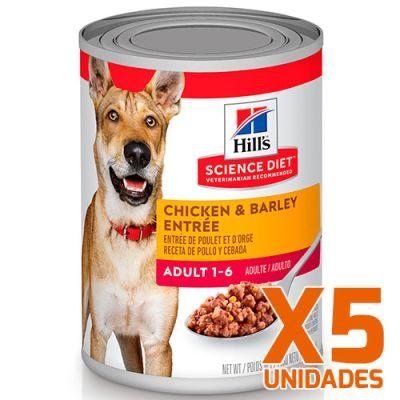 Hills Dog Adult - Pollo y Cebada Pack 5 unidades