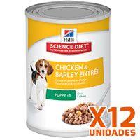 Hills Dog Puppy - Pollo y Cebada Pack 12 Unidades