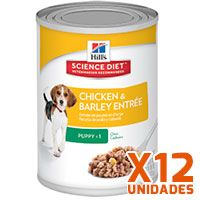 Hills Dog Puppy - Pollo y Cebada Pack 12 Unidades