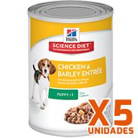 Hills Dog Puppy - Pollo y Cebada Pack 5 Unidades