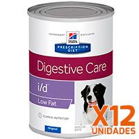 Hills i/D Low Fat Canino Lata - Pack 12 unidades