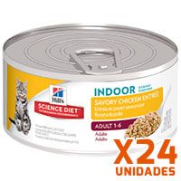 Hills Lata Cat Adult Indoor - Receta de Pollo Pack 24 Unidades