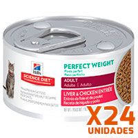 Hills Lata Cat Adult Perfect Weight Pack 24 Unidades