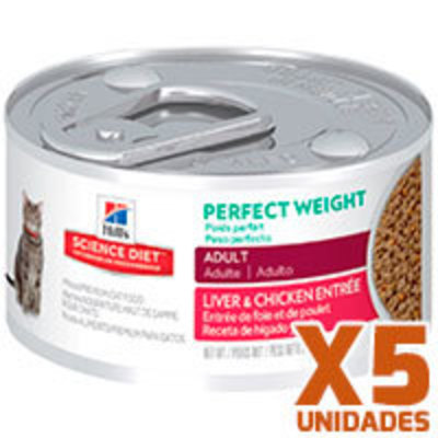 Hills Lata Cat Adult Perfect Weight Pack 5 Unidades