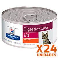 Hills Prescription Diet Latas Feline i/d Gastrointestinal Pack 24 Unidades (BANDEJA)