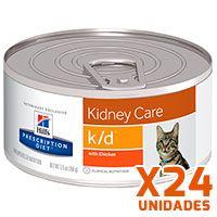 Hills Prescription Diet Latas Feline k/d Renal Pack 24 Unidades (BANDEJA)