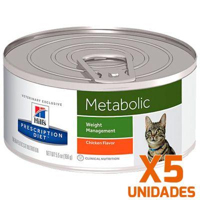 Hills Metabolic Felino Lata Pack 5 Unidades