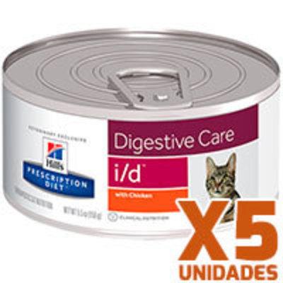 Hills Prescription Diet Latas Feline i/d Gastrointestinal Pack 5 Unidades