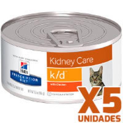 Hills Prescription Diet Latas Feline k/d Renal Pack 5 unidades