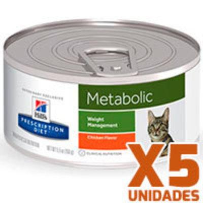 Hills Prescription Diet Latas Feline Metabolic Pack 5 Unidades