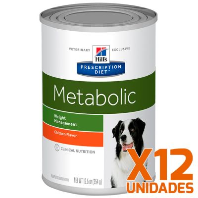 Hills Metabolic Canino Lata 370gr Pack 12 Unidades