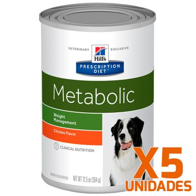 Hills Metabolic Canino Lata 370gr Pack 5 Unidades
