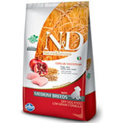 Natural and Delicious Ancestral Grain Canine Pollo y Granada Puppy Medium