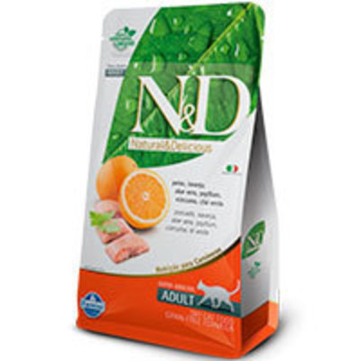 Natural and Delicious Grain Free Feline Adulto Pescado y Naranja
