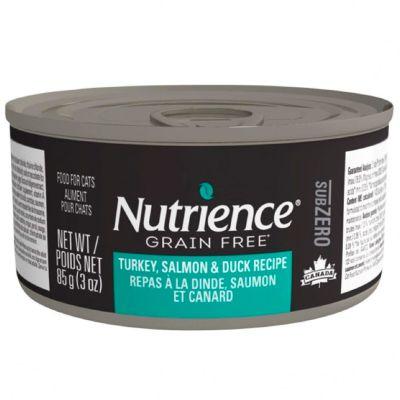 Nutrience Cat SubZero Lata Pavo Salmon y Pato 85gr