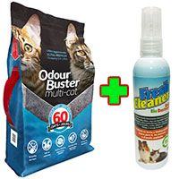 Odour Buster Multicat 12kg + Fresh Cleaner Urine Bio Destroyer 120ml