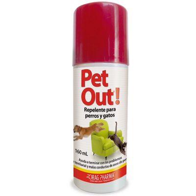 Pet Out Spray Repelente para Perros y Gatos 160ml