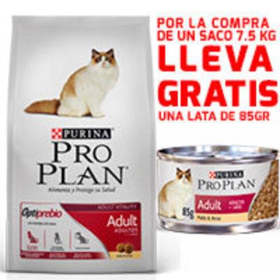 Purina Pro Plan Cat Adult con OptiPrebio 7.5KG + ¡LATA GRATIS!