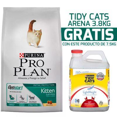 Purina Pro Plan Cat Kitten con OptiStart 7.5KG + Tidy Cats Light Weight 3.86KG