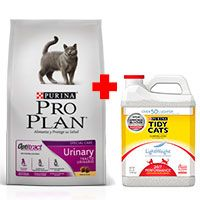 Purina Pro Plan Cat Urinary con OptiTract 7.5KG + Tidy Cats Light Weight 3.86KG