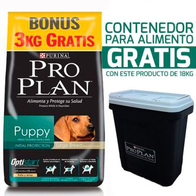 Purina Pro Plan Puppy Large con OptiStar 18KG + Contenedor Gratis!