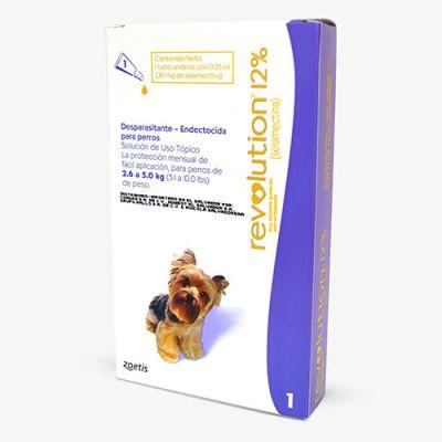 Revolution Antiparasitario para Perros de 2.5 a 5kg