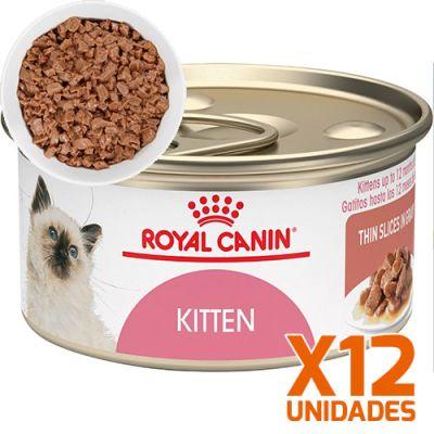 Royal Canin Latas Gatito Kitten Trozos Pack 12 Unidades