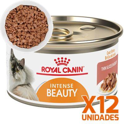 Royal Canin Latas Gato Intense Beauty 85gr Trozos Pack 12 Unidades