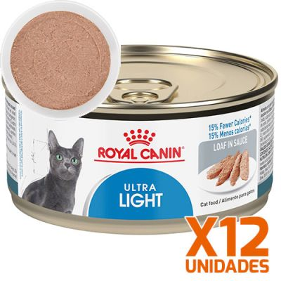Royal Canin Latas Gato Ultra Light Pate 165GR Pack 12 Unidades
