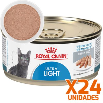 Royal Canin Latas Gato Ultra Light Pate 165GR Pack 24 Unidades