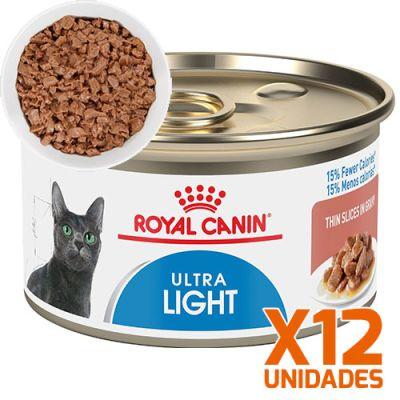 Royal Canin Latas Gato Ultra Light Trozos 85gr Pack 12 Unidades
