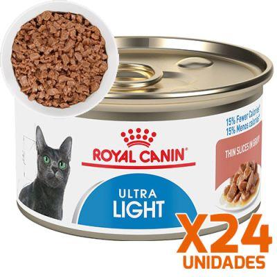 Royal Canin Latas Gato Ultra Light Trozos 85gr Pack 24 Unidades